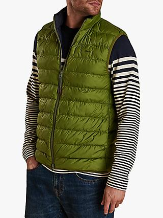 Barbour Crone Quilted Gilet, Vintage Green