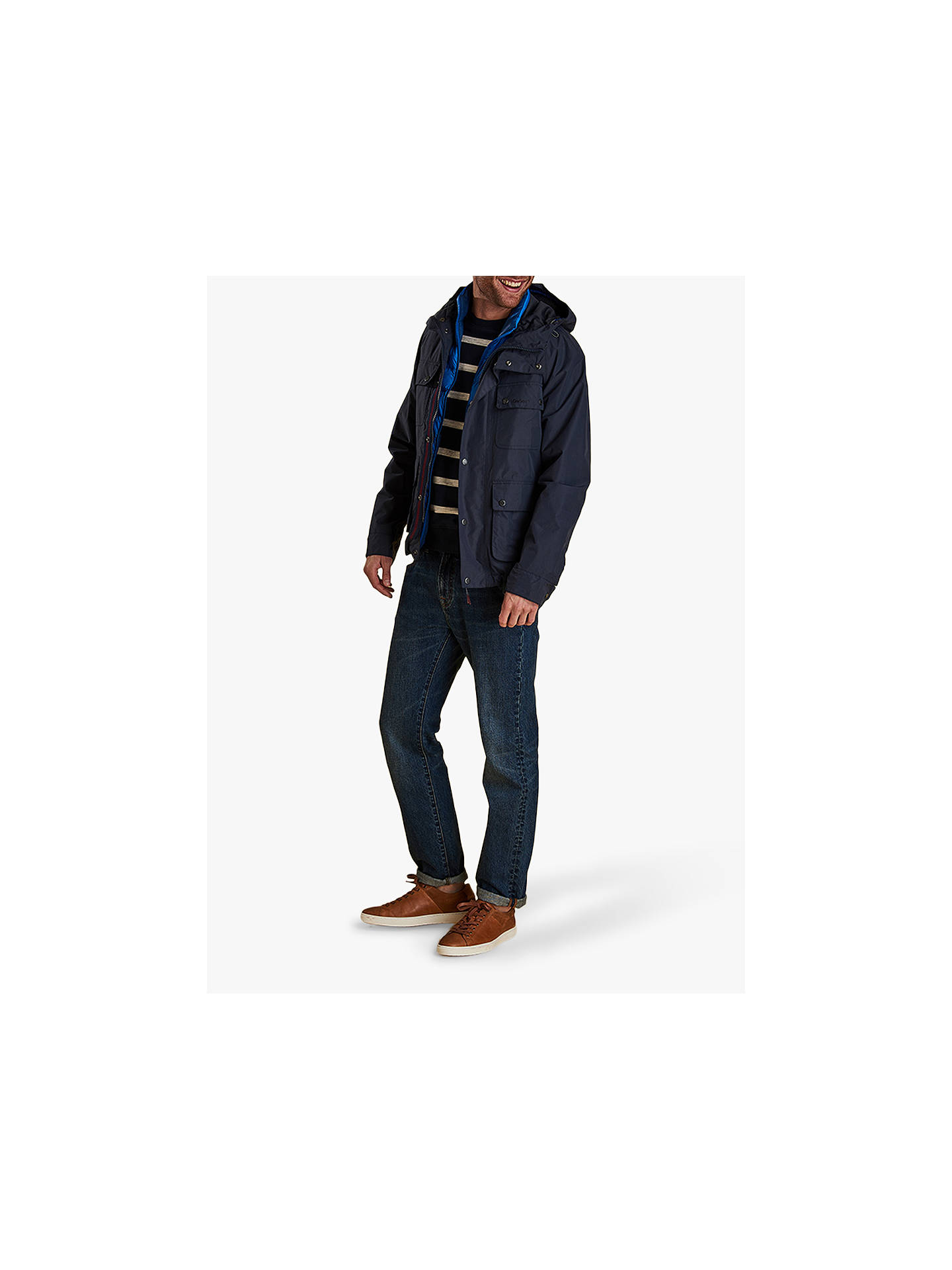 BuyBarbour Hallow Jacket, Navy, S Online at johnlewis.com