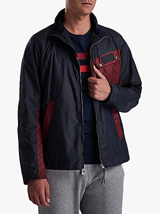Barbour International Ayr Wax Jacket, Dark Navy
