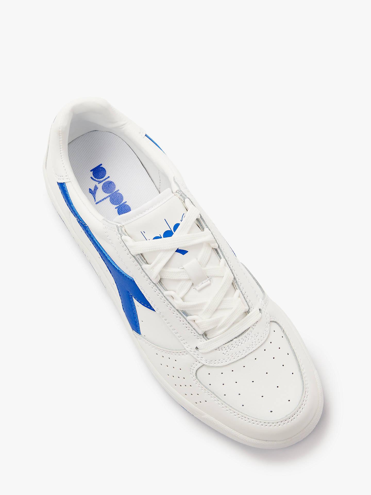 9144a998e1 Diadora B.Elite Lace Up Trainers, White/Royal Blue at John Lewis ...
