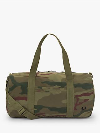 60bd96fb22 Fred Perry Camo Barrel Bag