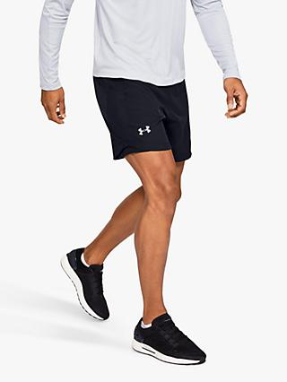 "Under Armour Speedpocket 7"" Running Shorts, Black"