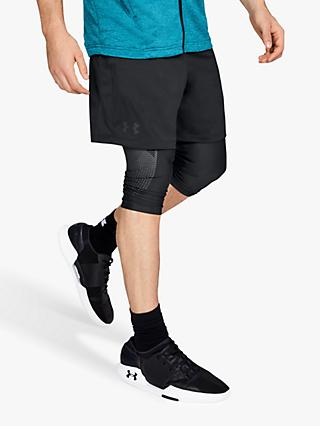 "Under Armour MK-1 7"" Training Shorts, Black"