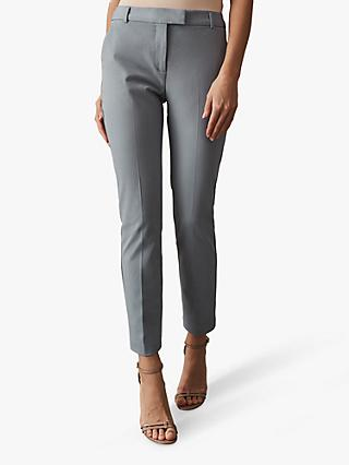 Reiss Joanne Casual Straight Trousers, Pale Blue