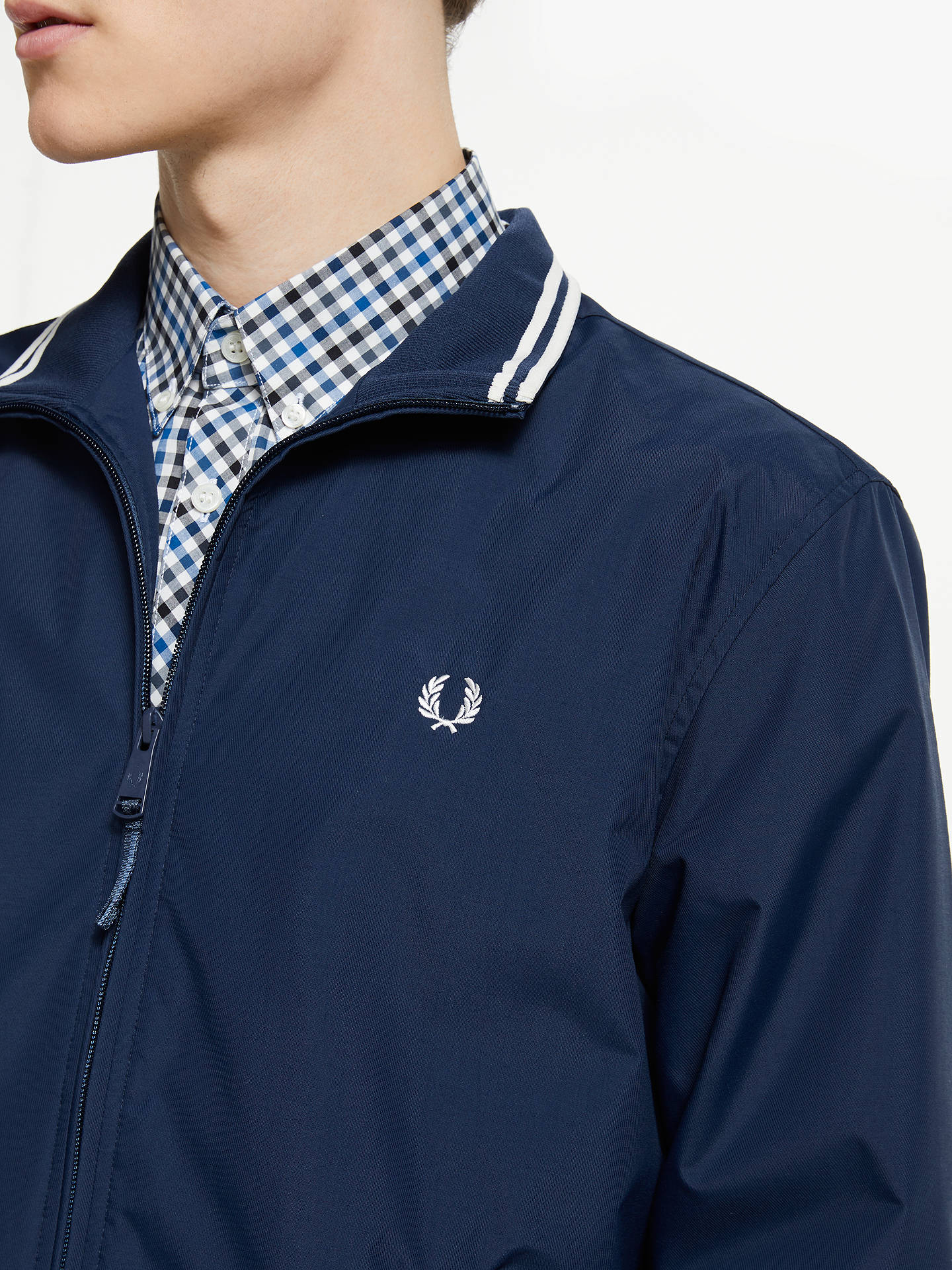 Buy Fred Perry Brentham Jacket, Carbon Blue, L Online at johnlewis.com