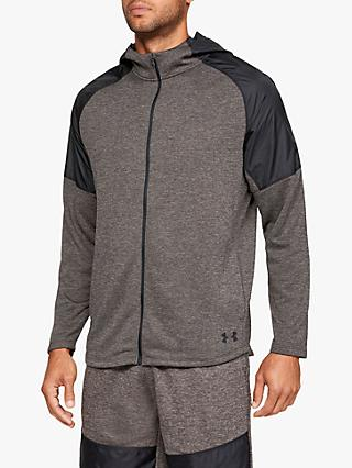 Under Armour MK-1 Terry Full Zip Training Hoodie, Slit Brown