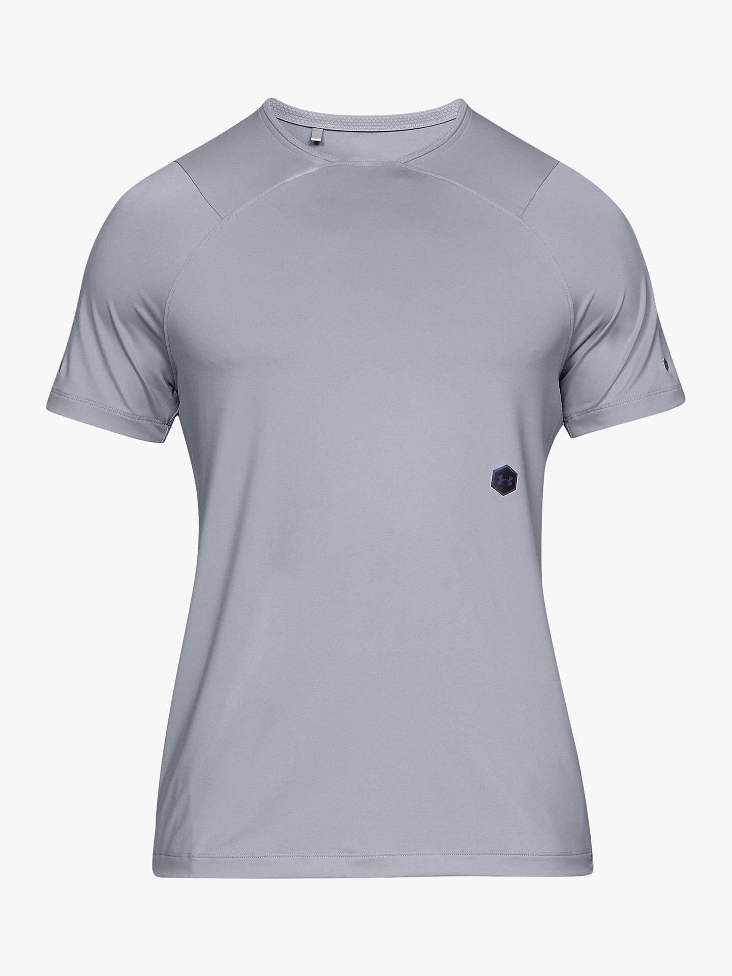 8137117f Buy Under Armour Rush Short Sleeve Training Top, Grey, S Online at  johnlewis.
