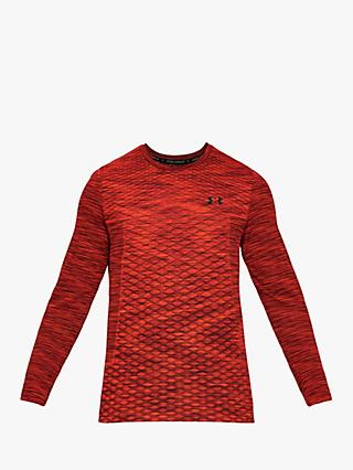 Under Armour Vanish Seamless Long Sleeve Top, Red