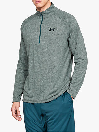 Buy Under Armour Tech 2.0 1/2 Zip Long Sleeve Training Top, Green, S Online at johnlewis.com