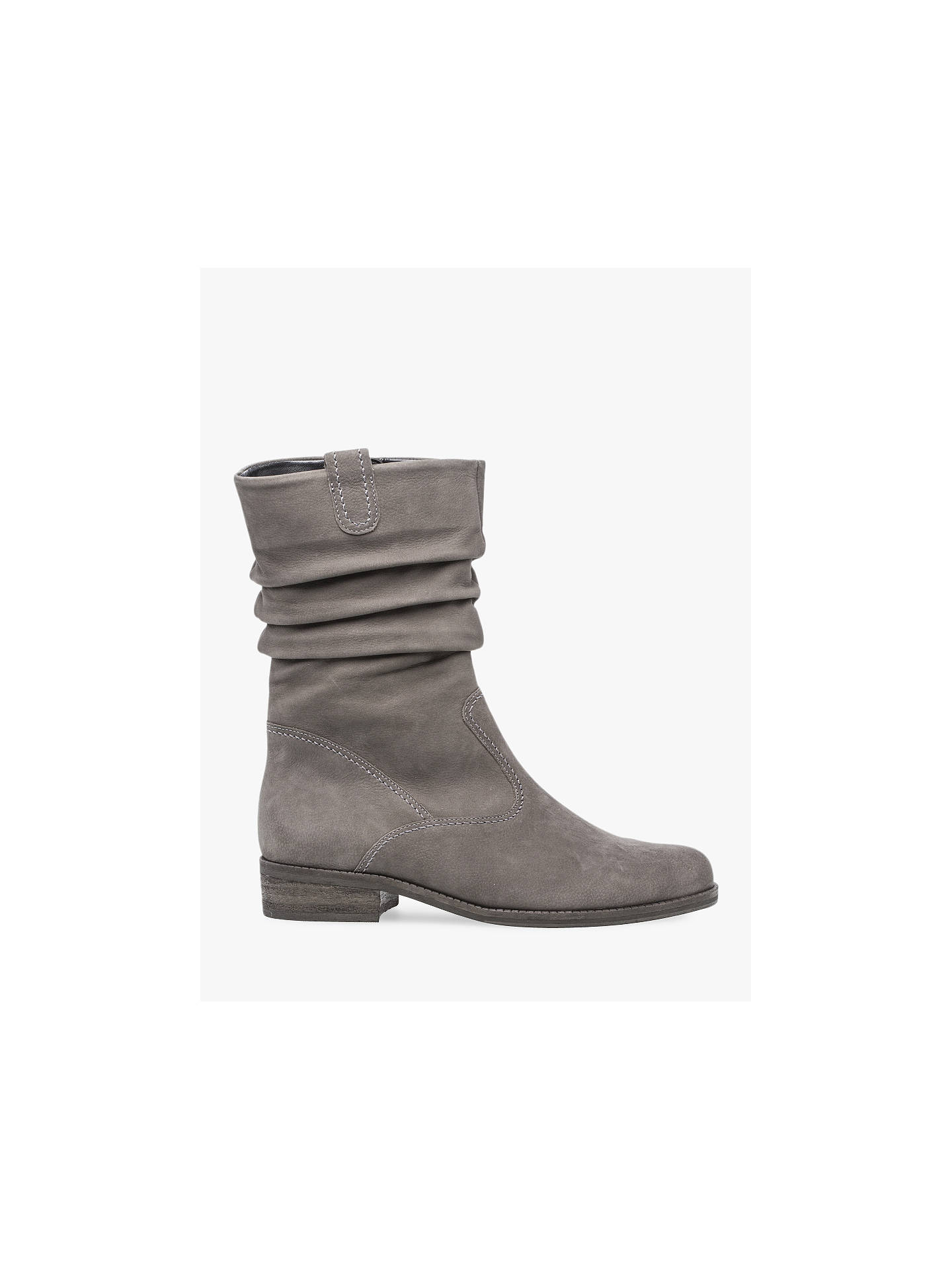 e862606fc Buy Gabor Trafalgar Nubuck Ruched Calf Boots, Anthracite, 4 Online at  johnlewis.com ...