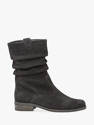 5e61e33bde2 Gabor Trafalgar Nubuck Ruched Calf Boots