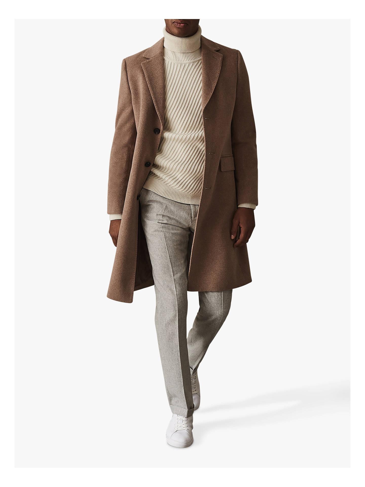 6820fbadcb31f2 Buy Reiss Ranger Flannel Slim Fit Trousers, Light Grey, 30R Online at  johnlewis.