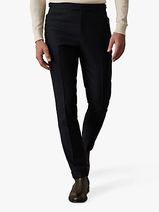 Reiss Pulse Wool Hopsack Slim Fit Trousers, Charcoal