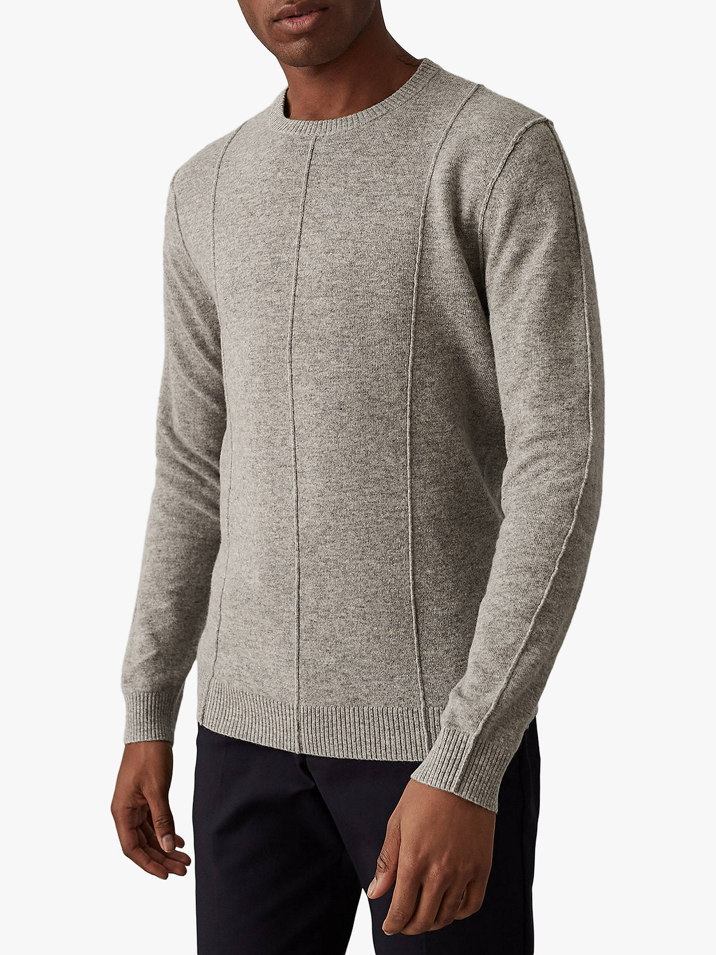 04ac94954fa Buy Reiss Champion Wool Cashmere Jumper, Grey, S Online at johnlewis.com ...