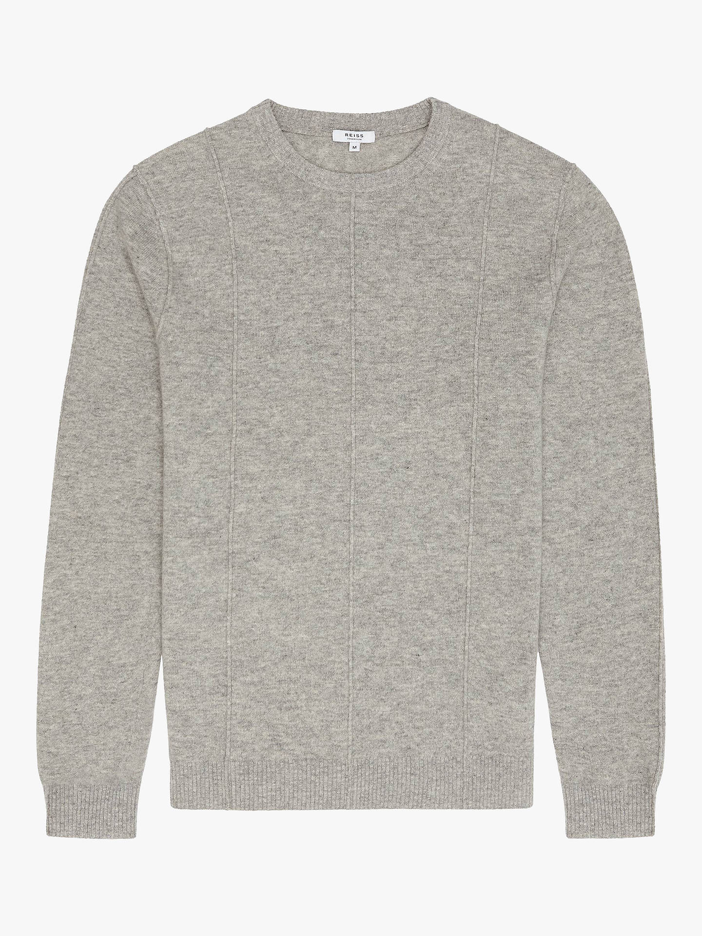 a750c5fc638 ... Buy Reiss Champion Wool Cashmere Jumper, Grey, S Online at johnlewis.com