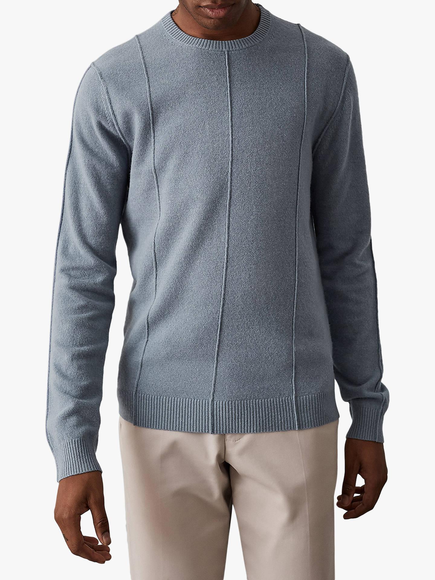 9e117180e22 Buy Reiss Champion Wool Cashmere Jumper, Airforce Blue, XL Online at  johnlewis.com ...