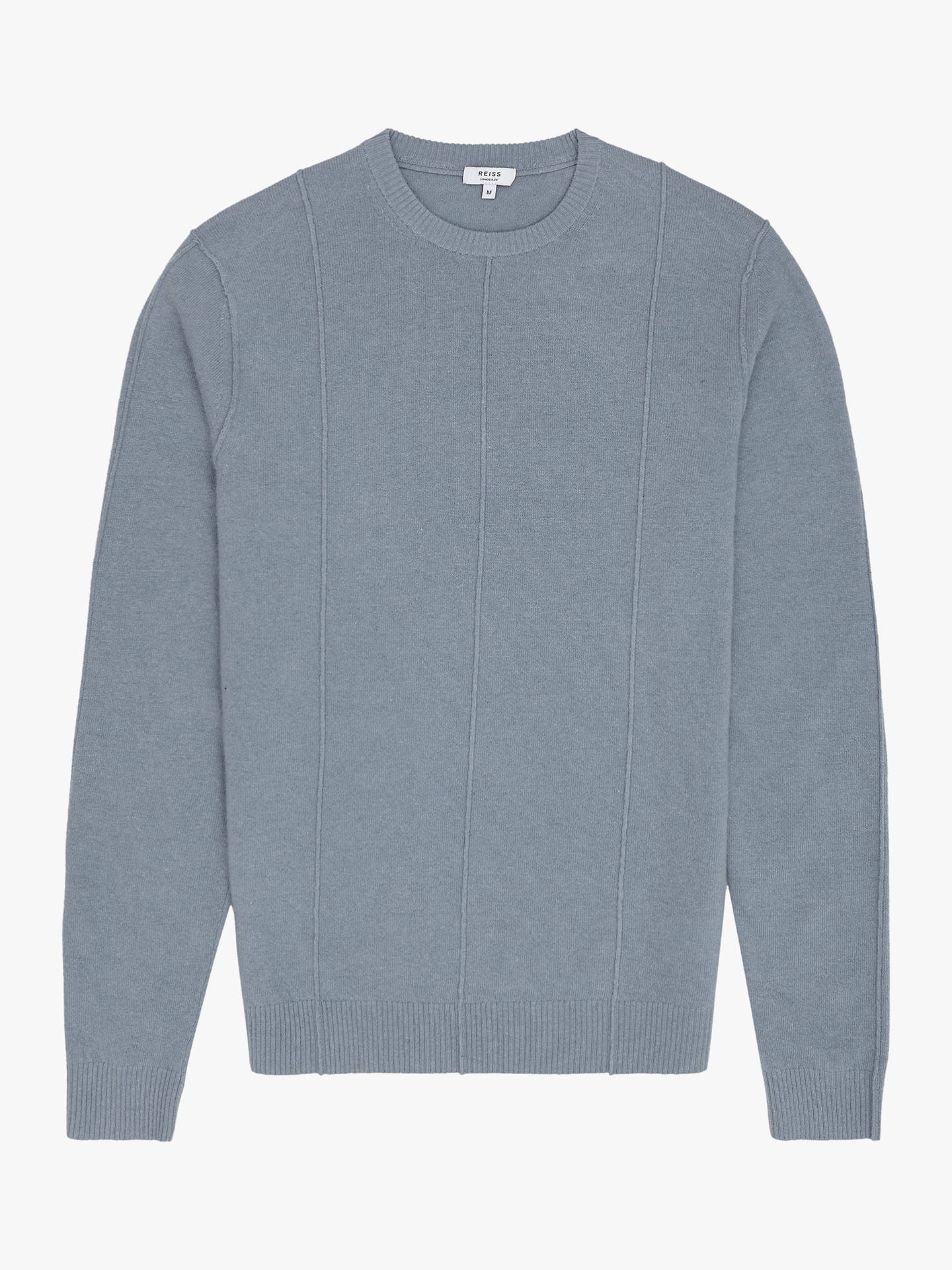 d2e95efcde8 ... Buy Reiss Champion Wool Cashmere Jumper, Airforce Blue, XL Online at  johnlewis.com