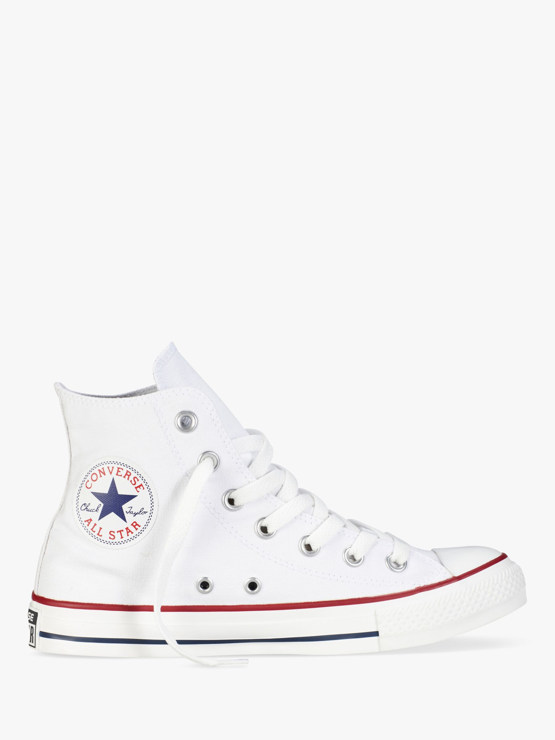 Buy Converse Chuck Taylor All Star Canvas High-Top Trainers, White, 4 Online at johnlewis.com