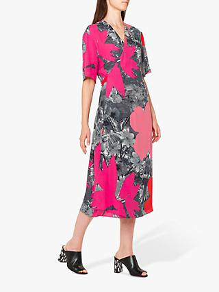 edc021cd77d2 PS Paul Smith Large Floral Print Tie Back Midi Dress