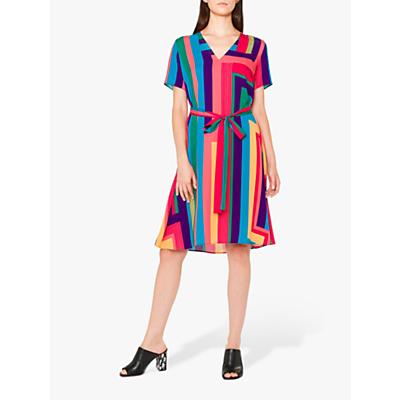 PS Paul Smith Zig Zag Print Flared Dress, Multi