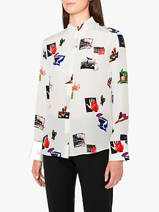 PS Paul Smith Scrapbook Silk Shirt, Off White