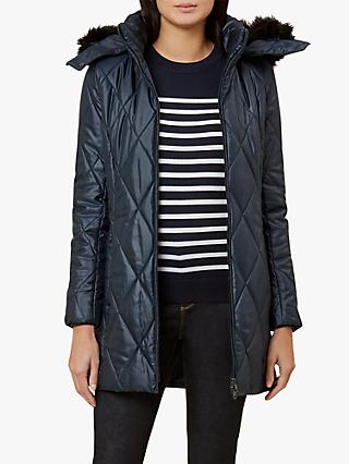 Hobbs Nadine Puffer Coat, Midnight Blue