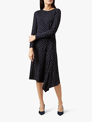 Hobbs Carmen Dress, Navy/Ivory