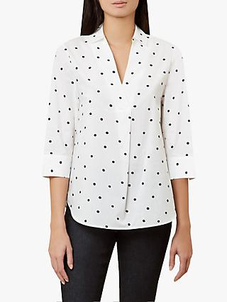 Hobbs Mina Top, Ivory/Black