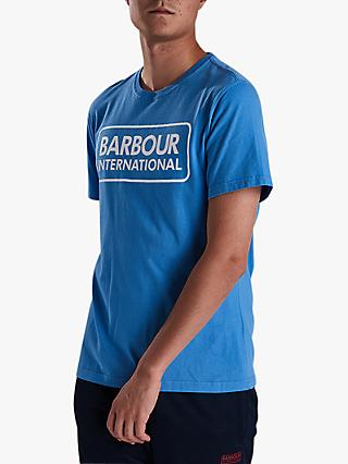 Barbour International Essential Large Logo T-Shirt, Bright Blue