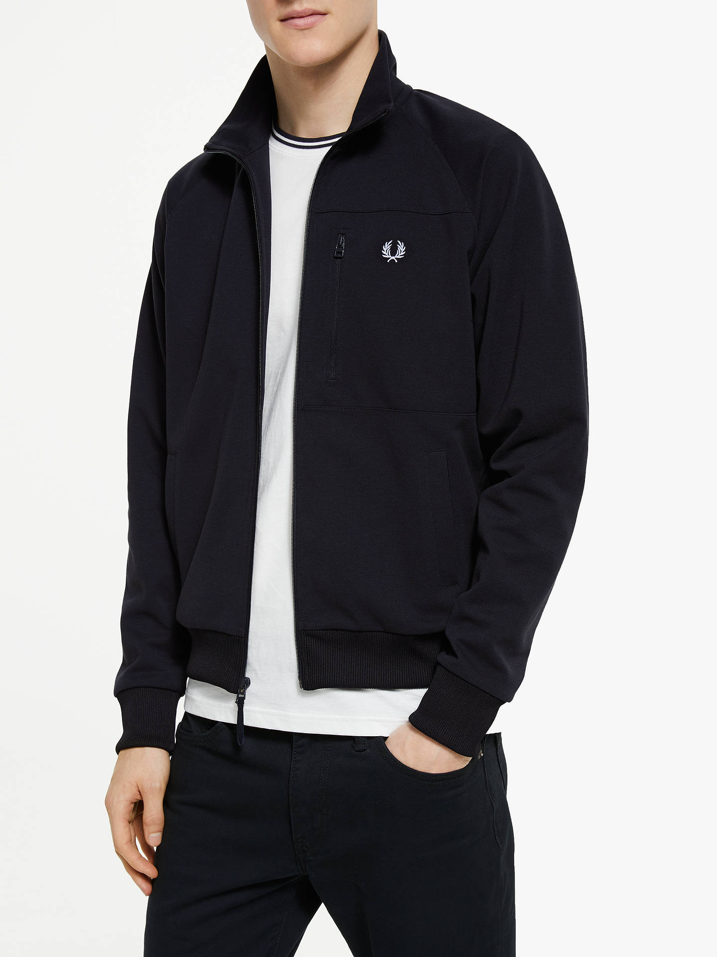 b6cfb024b Fred Perry Utility Track Jacket, Navy at John Lewis & Partners