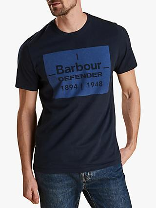 Barbour Land Rover Defender Short Sleeve Graphic T-Shirt, Blue