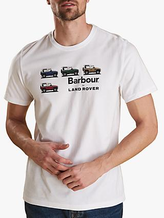 Barbour Land Rover Defender Short Sleeve Graphic T-Shirt, White