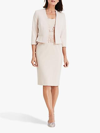 Phase Eight Talita Cropped Sleeve Tailored Jacket, Cameo