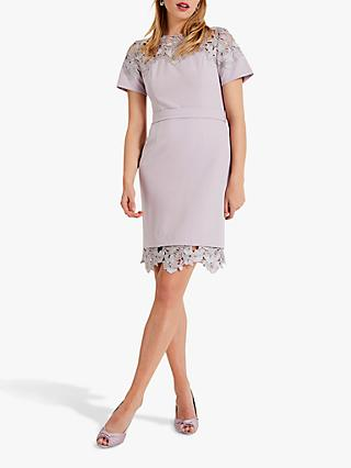 Phase Eight Debora Guipure Lace Dress, Misty Mauve