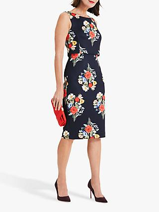 Phase Eight Carolina Scuba Dress, Navy/Multi