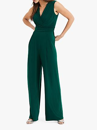 Phase Eight Isabelle Pleat Bodice Jumpsuit, Pine
