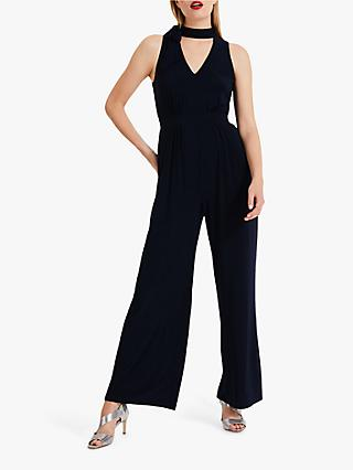 Phase Eight Erin Tie Neck Jumpsuit, Navy
