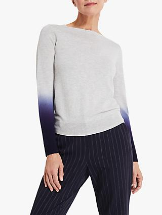 Phase Eight Danae Jumper, Grey/Navy