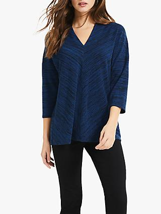 Phase Eight Sloan Space Dye Top, Blue