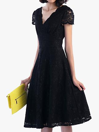 Jolie Moi Cap Sleeve Lace Dress