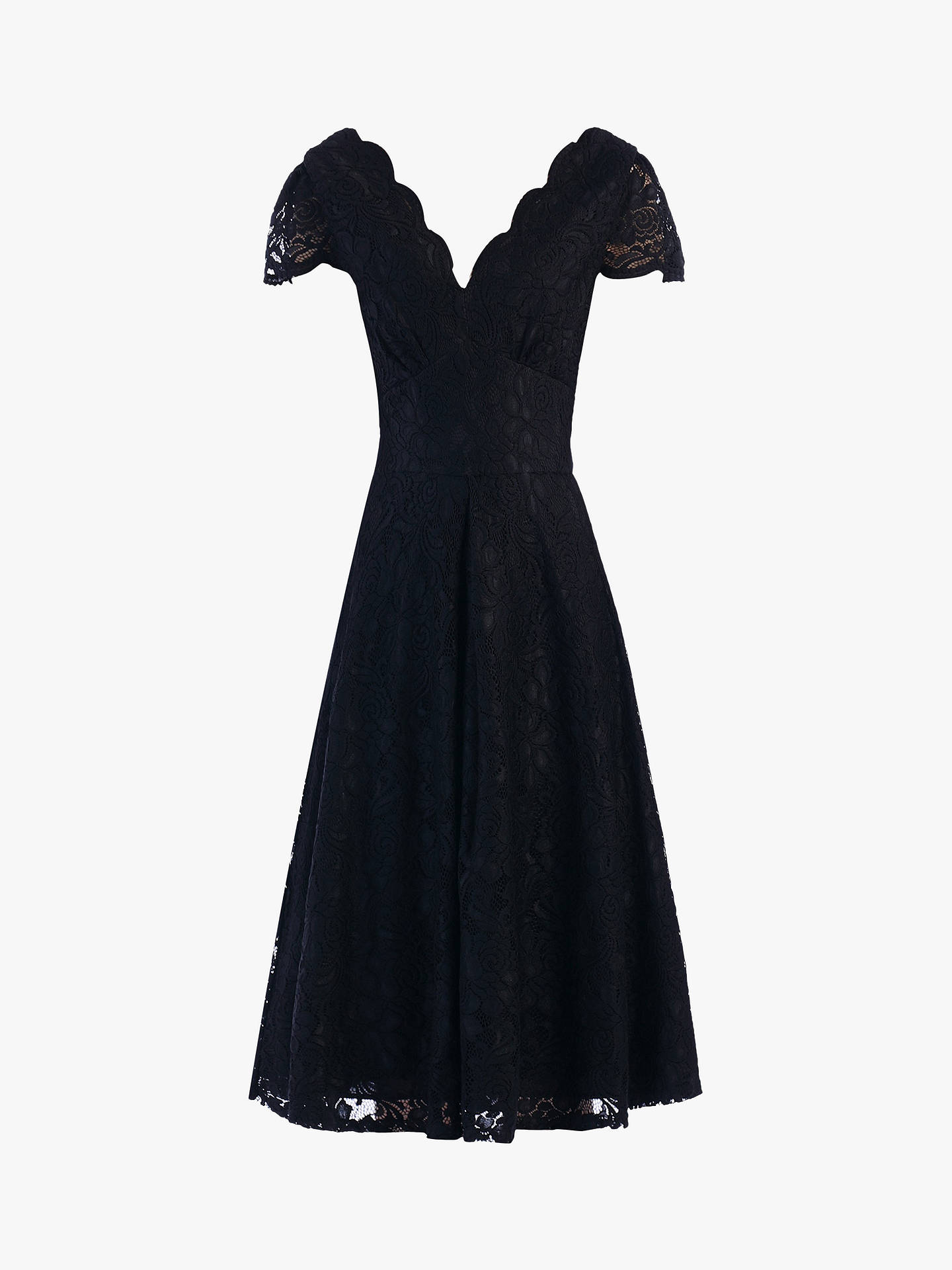 Buy Jolie Moi Cap Sleeve Lace Dress, Black, 8 Online at johnlewis.com