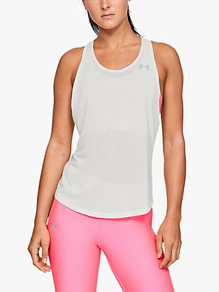 Under Armour Streaker Racer Running Vest, White