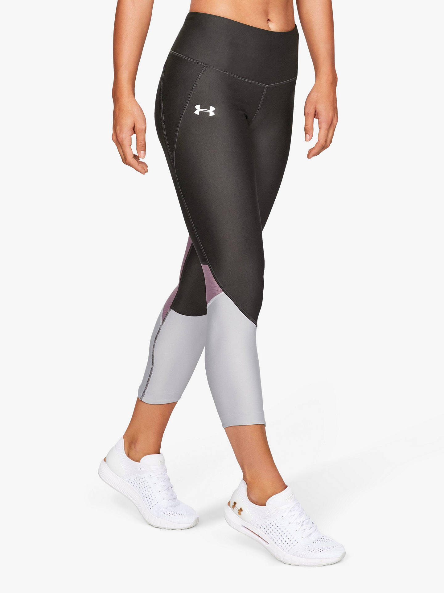 94445a402c5e1 Buy Under Armour Fly Fast Cropped Leggings, Black/Grey, XS Online at  johnlewis ...