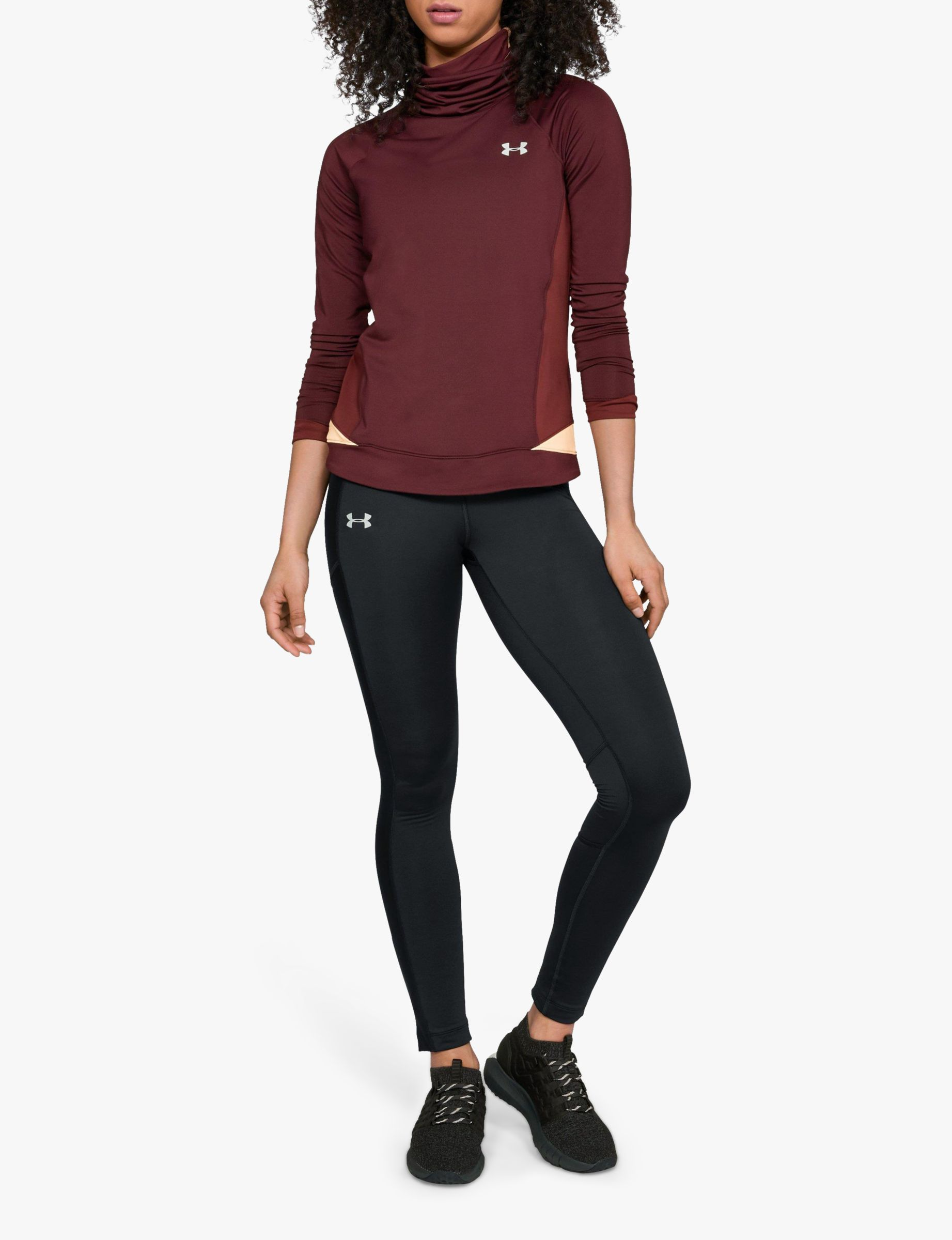 22a27c233 Under Armour ColdGear Run Storm Running Tights, Black at John Lewis &  Partners