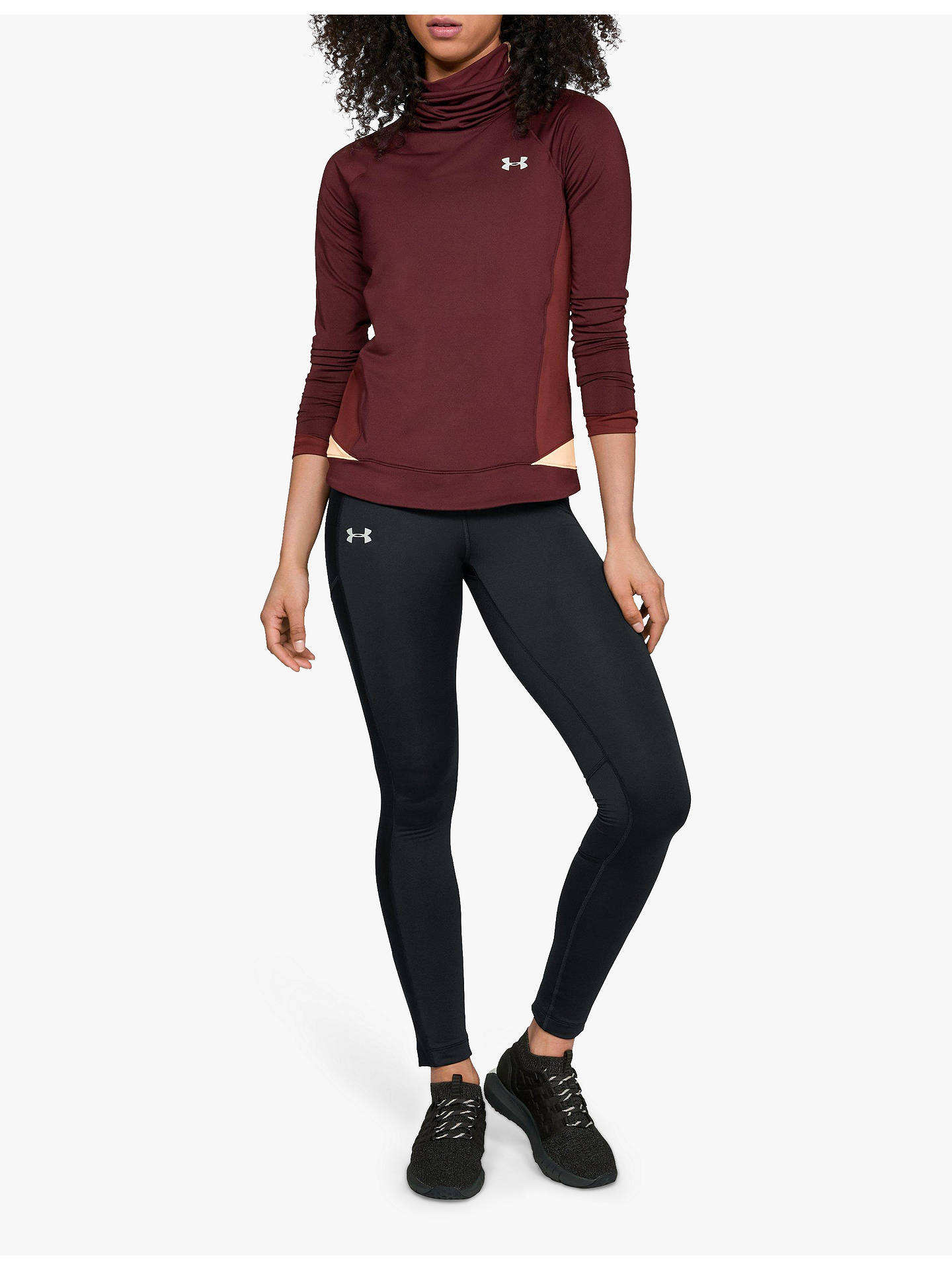 8c60cf97975b8 Buy Under Armour ColdGear Run Storm Running Tights, Black, XS Online at  johnlewis.
