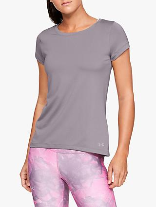 Under Armour HeatGear Armour Short Sleeve Training Top, Grey
