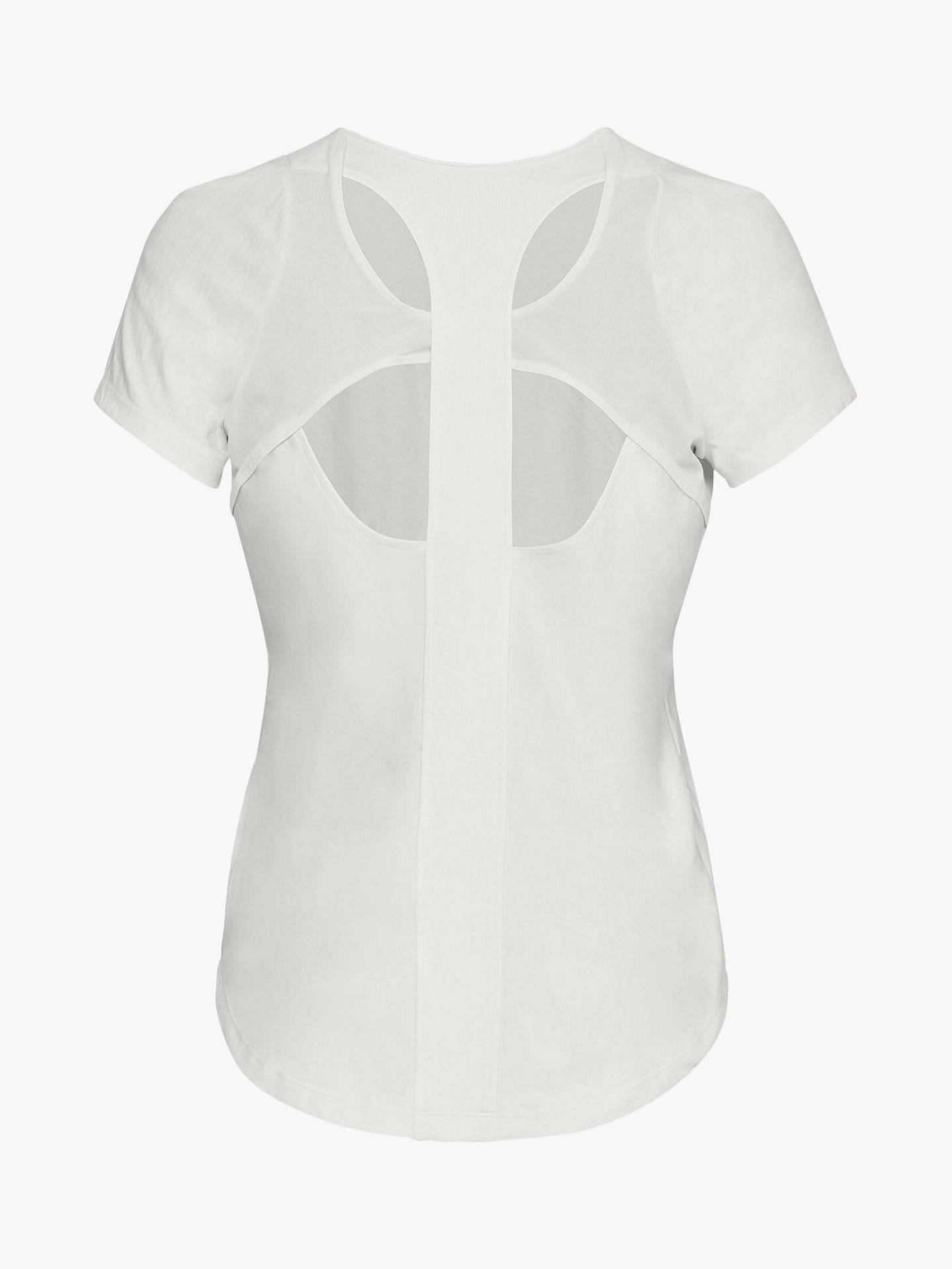 BuyUnder Armour Vanish Short Sleeve Top, White, S Online at johnlewis.com