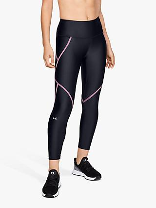 Under Armour Edgelit Training Ankle Cropped Leggings, Black/Pink