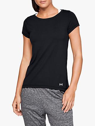 Under Armour HeatGear Armour Short Sleeve Training Top, Black