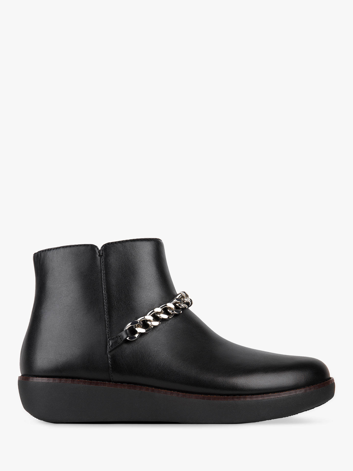 dddf12194a2 FitFlop Pia Chain Detail Flatform Ankle Boots, Black Leather